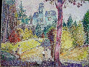 Landscape with Victorian House: Max Kuehne