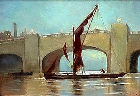 Sailing Past a Bridge: Bernard Benedict Hemy