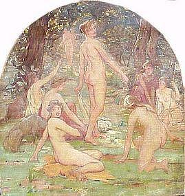 Nymphs in Forest: Robert Von Vorst Sewell