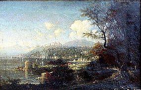 View of Sorrento & Vesuvius: George Loring Brown
