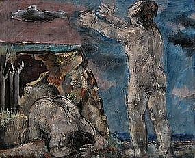 Two Figures By The Shore: Max Weber