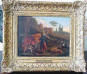 Italianate Pastoral Landscape: Nicolaes Berchem