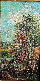 Pointalist Landscape: Henri Achillo Zo