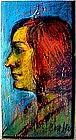 Portrait of Woman: David Burliuk