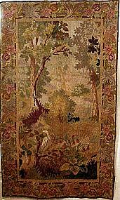 Animals in Floral Garden: Flemish Tapestry