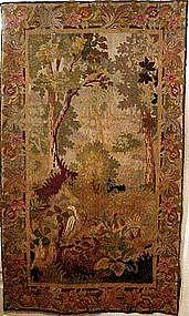 Animals in Floral Garden: Flemish Tapestry