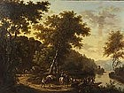 Landscape with River Travelers: Victor DeGrailly