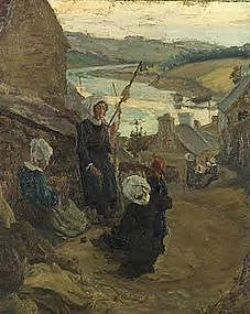 Villagers near Coastal Town: Alfred Fournier