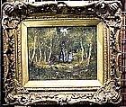 Forest Scene with Figures: Narcisse de la Pena Diaz