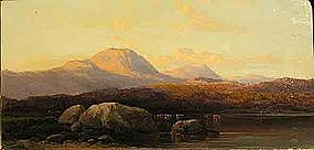 Pair of Landscapes: Dusk: Arthur Gilbert