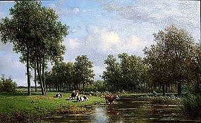 Landscape with Cows: Willem Vester