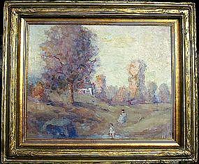Figures in Impressionist Landscape: Cecil Chichester