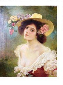 French Lady in Floral Hat,1901