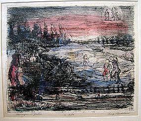 Bathers in Landscape: Luigi Bartolini