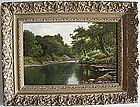 River Landscape with Sheep: Thomas Spinks