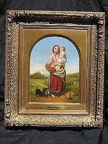Pair of Peasants with Dog: Edwin Hughes