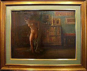 Nude in a Library: Everett Shinn
