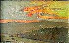 Sunset Overlooking Bay: George Loftus Noyes