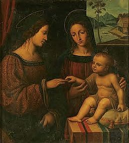 Marriage of St Catherine: Manner of Bernardino Luini