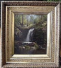 Waterfall at Lake Leuake 1879: Dewitt Clintin Boutelle
