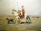 Arab Horsemen and Dog: Alfred Wordsworth Thompson