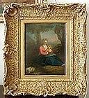 Madonna & Child in Landscape: Balthasar Beschey