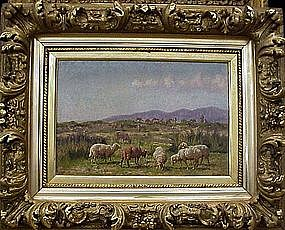 Landscape with Sheep: William B Baird