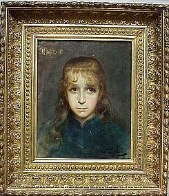 Mignon:Portrait of Young Girl: Jules Joseph LeFebvre