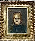 Mignon:Portrait of Young Girl: Jules Joseph LeFebvre