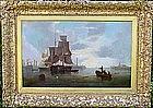 Ship in Harbor: James Wilson Carmichael