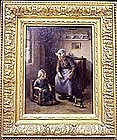 Woman & Child in Interior: Lammert de Tonge