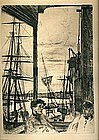 Sailors at Dock: James McNeill Whistler