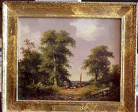 Pair of Landscapes: Jan Evert Morel II