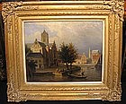 Dutch Village on River: Jacobus Ludvicus Cornet