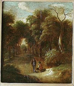 Figures in Wooded Landscape: Jan Miense Molenaer