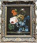 Dutch Flowers on Ledge: 19th C