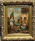 Woman at Dutch Fish Market: Willem de Mieris, Jr