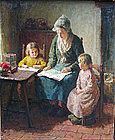 Reading with Mother, Bernard Pothast