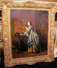 Woman Sealing a Letter: Jean Carolus