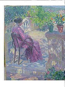 Madame Camus on the Terrace  by Blanche Camus