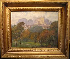 Edinburogh Castle in Landscape:Lionel Perry Smythe