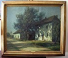 French Country House in Moonlight: Francois Cachoud
