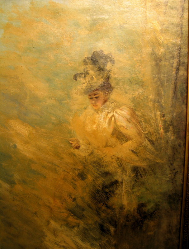 Lady Fishing in Landscape: Lionel Noel Royer
