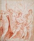 Venus & Adonis: Red Chaulk: Padovanino/ Varotari