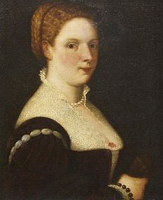 Portrait of Italian Woman: 17th C Italian School