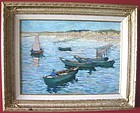 Rowboats in Harbor: Charles Beck