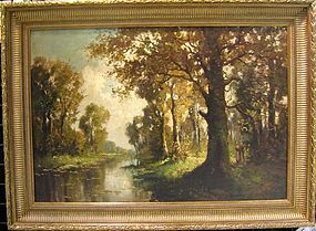 River Landscape with Figures: Kees Terlowe