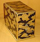 Antique Japanese Edo Maki-e Lacquered Oil Lamp Box