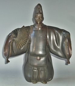 Antique Japanese Signed Shusei Bronze Noh Figure