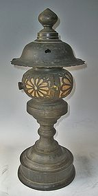Antique Japanese Temple Lantern Dated Bunsei C.1830